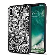 Недорогие Кейсы для iPhone 8-Кейс для Назначение Apple iPhone X iPhone 8 Plus С узором Кейс на заднюю панель Кружева Печать Мягкий ТПУ для iPhone X iPhone 8 Pluss