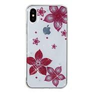 Кейс для Назначение Apple iPhone X iPhone 8 IMD С узором Задняя крышка Сияние и блеск Цветы Мягкий TPU для iPhone X iPhone 8 Pluss iPhone