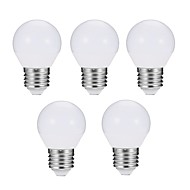 cheap LED Globe Bulbs-EXUP® 5pcs 7W 680 lm E27 LED Globe Bulbs G45 10 leds SMD 5730 Dimmable Decorative LED Light Warm White Cold White AC 180-240