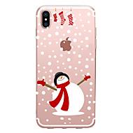 Недорогие Кейсы для iPhone 8-случай для яблока iphone x xs xr xsmax iphone 8 прозрачный шаблон back cover рождественский мягкий tpu для iphone x iphone 8 плюс iphone 8 iphone 7 plus