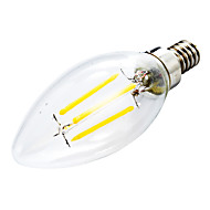 E12 Luzes de LED em Vela C35 leds COB Regulável Decorativa Branco Quente 400lm 2800-3200K AC 110-130V