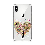 Недорогие Кейсы для iPhone-Кейс для Назначение Apple iPhone X iPhone 8 Plus Кейс для iPhone 5 iPhone 6 iPhone 7 Прозрачный С узором Кейс на заднюю панель дерево