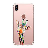 Недорогие Кейсы для iPhone 8 Plus-Кейс для Назначение Apple iPhone X iPhone 8 Прозрачный С узором Кейс на заднюю панель Животное Мягкий ТПУ для iPhone X iPhone 8 Pluss