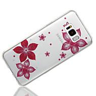 お買い得  新着 Samsung 用アクセサリー-ケース 用途 Samsung Galaxy S8 Plus / S8 IMD / パターン バックカバー キラキラ仕上げ / フラワー ソフト TPU のために S8 Plus / S8 / S7 edge