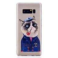 Недорогие Чехлы и кейсы для Galaxy Note-Кейс для Назначение SSamsung Galaxy Note 8 С узором Кейс на заднюю панель Кот Мягкий ТПУ для Note 8