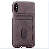 For iPhone X iPhone 8 iPhone 8 Plus iPhone 7 iPhone 7 Plus iPhone 6 Case Cover Card Holder Back Cover Case Solid Color Hard PU Leather for