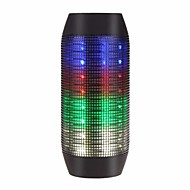 abordables Altavoces-Flashing Speaker Al Aire Libre Portátil Luz LED Bult-en el mic Soporta tarjetas de memoria super Bass Bluetooth 2.1 3.5mm AUX altavoces