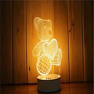 1 sarja 3d tunnelma yövalo käsi tunne himmennettävä usb powered gift lampun karhu