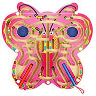 tanie Zabawki & hobby-Układanka Luban Magnetyczny labirynt Zabawki Samolot Motyl Butterfly Theme Szkoła Drewniany Sztuk