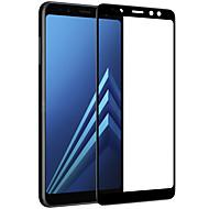 お買い得  Samsung 用スクリーンプロテクター-スクリーンプロテクター Samsung Galaxy のために A8+ 2018 強化ガラス 1枚 フルボディプロテクター 3Dラウンドカットエッジ アンチグレア 指紋防止 傷防止 防爆 硬度9H ハイディフィニション(HD)