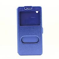 お買い得  携帯電話ケース-ケース 用途 OPPO R7s OPPO OPPO R7 OPPO R9プラス OPPO R9 R9s Plus R9s スタンド付き ウィンドウ付き フリップ フルボディーケース 純色 ハード PUレザー のために OPPO R9s Plus OPPO R9s OPPO