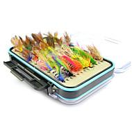 お買い得  釣り用アクセサリー-64 pcs ルアー ソフトベイト / ハエ 羽毛 / 炭素鋼 海釣り / フライフィッシング / ベイトキャスティング / ジギング / 川釣り / ルアー釣り / 一般的な釣り