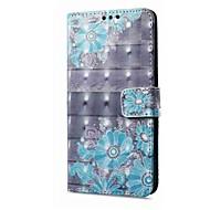 お買い得  携帯電話ケース-ケース 用途 OPPO R11 A57 カードホルダー ウォレット スタンド付き フリップ 磁石バックル パターン フルボディーケース フラワー ハード PUレザー のために Oppo R11 OPPO R9s OPPO A59 OPPO A57