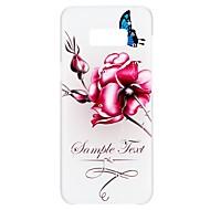 Недорогие Чехлы и кейсы для Galaxy S6 Edge Plus-Кейс для Назначение SSamsung Galaxy S8 S7 Стразы С узором Рельефный Кейс на заднюю панель Слова / выражения Бабочка Цветы Твердый ПК для