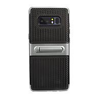 Недорогие Чехлы и кейсы для Galaxy Note 8-Кейс для Назначение SSamsung Galaxy со стендом Полосы / волосы Мягкий для