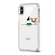 Недорогие Кейсы для iPhone 8-Кейс для Назначение Apple iPhone X iPhone 8 С узором Кейс на заднюю панель С собакой Мягкий ТПУ для iPhone X iPhone 8 Pluss iPhone 8