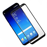 お買い得  Samsung 用スクリーンプロテクター-スクリーンプロテクター Samsung Galaxy のために 強化ガラス 1枚 フルボディプロテクター 3Dラウンドカットエッジ アンチグレア 指紋防止 傷防止 防爆 硬度9H ハイディフィニション(HD)