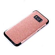 Недорогие Чехлы и кейсы для Galaxy S-Кейс для Назначение SSamsung Galaxy S8 Plus S8 Покрытие Задняя крышка Сплошной цвет Сияние и блеск Мягкий Искусственная кожа для S8 Plus