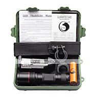 billiga Ficklampor-U'King LED-Ficklampor LED 1500 lm 4.0 Läge Cree XM-L L2 med batteri och laddare Kompakt storlek Liten storlek