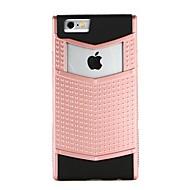 Недорогие Кейсы для iPhone 8 Plus-Кейс для Назначение Apple iPhone 7 iPhone 6 Защита от удара Рельефный Задняя крышка Геометрический рисунок Панк Твердый PC для iPhone X