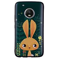 お買い得  携帯電話ケース-ケース 用途 Motorola G5 Plus / G5 パターン バックカバー バニー ソフト シリコーン のために モトG5プラス / Moto G5 / Moto G4 Plus