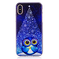 Case For Apple iPhone X iPhone 8 IMD Pattern Back Cover Owl Soft TPU for iPhone X iPhone 8 Plus iPhone 8 iPhone 7 Plus iPhone 7 iPhone 6s