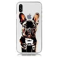 Недорогие Кейсы для iPhone 8 Plus-Кейс для Назначение Apple iPhone X iPhone 8 Plus С узором Кейс на заднюю панель С собакой Мягкий ТПУ для iPhone X iPhone 8 Pluss iPhone 8