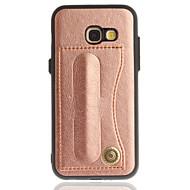 Недорогие Чехлы и кейсы для Galaxy A5(2016)-Кейс для Назначение SSamsung Galaxy A5(2017) A3(2017) Бумажник для карт со стендом Кейс на заднюю панель Сплошной цвет Твердый Кожа PU для