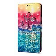 お買い得  携帯電話ケース-ケース 用途 Xiaomi Redmi Note 5A Redmi Note 4X カードホルダー ウォレット スタンド付き フリップ 磁石バックル パターン 風景 ハード のために