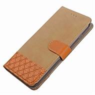 Недорогие Чехлы и кейсы для Galaxy S8-Кейс для Назначение SSamsung Galaxy S8 Plus S8 Бумажник для карт Кошелек со стендом Флип Магнитный Чехол Геометрический рисунок Твердый