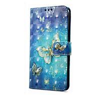 Недорогие Чехлы и кейсы для Galaxy A5(2016)-Кейс для Назначение SSamsung Galaxy A8 Plus 2018 A8 2018 Кошелек Бумажник для карт со стендом Флип Магнитный С узором Чехол Бабочка