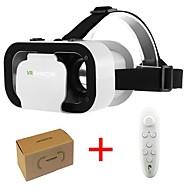 abordables Gafas de Realidad Virtual-vr shinecon 5.0 gafas realidad virtual vr caja gafas 3d para 4.7 - 6.0 pulgadas teléfono con controlador