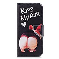 billige Etuier / covers til Galaxy S-modellerne-Etui Til Samsung Galaxy S9 S9 Plus Kortholder Pung Med stativ Flip Mønster Fuldt etui Hund Hårdt PU Læder for S9 Plus S9 S8 Plus S8 S7