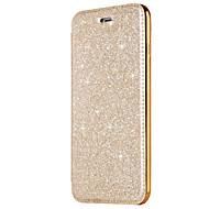 halpa Galaxy S7 Edge kotelot / kuoret-Etui Käyttötarkoitus Samsung Galaxy S8 Plus S8 Korttikotelo Pinnoitus Flip Kokonaan peittävä Yhtenäinen väri Kimmeltävä Kova PU-nahka