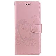Недорогие Чехлы и кейсы для Galaxy Note-Кейс для Назначение Samsung Note 8 Note 5 Бумажник для карт со стендом Флип С узором Рельефный Чехол С сердцем Твердый Кожа PU для Note 8