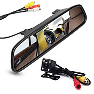 Недорогие Автоэлектроника-ziqiao 4,3-дюймовый цифровой tft ЖК-монитор зеркала и 8led ccd hd автомобиль камера заднего вида