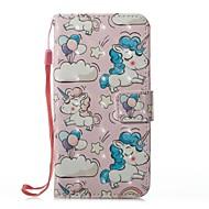 Недорогие Кейсы для iPhone 8 Plus-Кейс для Назначение Apple iPhone X / iPhone 8 Кошелек / Бумажник для карт / со стендом Чехол единорогом Твердый Кожа PU для iPhone X / iPhone 8 Pluss / iPhone 8