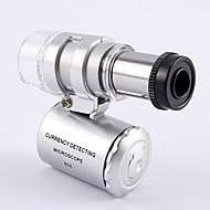 abordables Corte y medición-Luces de la lámpara del microscopio Luces del yanchao Bolsillo portátil con lupa de la lámpara