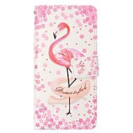 Недорогие Чехлы и кейсы для Galaxy S-Кейс для Назначение SSamsung Galaxy S8 Plus S8 Бумажник для карт Кошелек со стендом Флип Магнитный Чехол Фламинго Твердый Кожа PU для S8