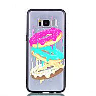 Недорогие Чехлы и кейсы для Galaxy S8-Кейс для Назначение SSamsung Galaxy S8 Plus S8 Прозрачный С узором Рельефный Кейс на заднюю панель Продукты питания Твердый ПК для S8