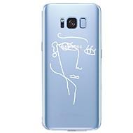 Недорогие Чехлы и кейсы для Galaxy S-Кейс для Назначение SSamsung Galaxy S8 Plus S8 С узором Кейс на заднюю панель Полосы / волосы Соблазнительная девушка Геометрический