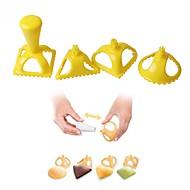 お買い得  キッチン用小物-ベークツール プラスチック ベーキングツール / クリエイティブキッチンガジェット / DIY 調理器具のための / パン用 / キャンディのための ケーキ型 4本