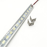 billiga Lysrör-ZDM® 72 lysdioder 1x hård ljusremsa Varmvit Kallvit DC 12 V