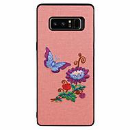 Недорогие Чехлы и кейсы для Galaxy Note 8-Кейс для Назначение SSamsung Galaxy Note 8 С узором Бабочка Пейзаж Цветы Мягкий для