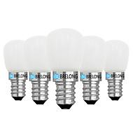 お買い得  -BRELONG® 5個 2W 120lm E14 E12 LEDボール型電球 1 LEDビーズ COB 調光可能 温白色 ホワイト 220V