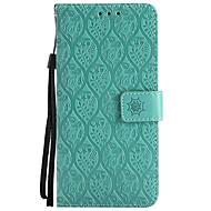 お買い得  携帯電話ケース-ケース 用途 LG K8 LG LG K10 LG K7 K10(2017) G6 カードホルダー ウォレット スタンド付き エンボス加工 フルボディーケース 純色 フラワー ハード PUレザー のために LG X Power LG V30 LG V20 LG V10 LG