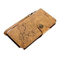 Недорогие Чехлы и кейсы для Galaxy Note-Кейс для Назначение SSamsung Galaxy Note 8 Note 5 Бумажник для карт Кошелек со стендом Флип Магнитный С узором Чехол Цветы Твердый Кожа PU