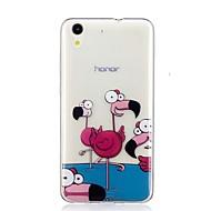 お買い得  携帯電話ケース-ケース 用途 Huawei Y6 II / Honor Holly 3 / Nova パターン バックカバー フラミンゴ ソフト TPU のために Huawei Y6 II / Honor Holly 3 / Huawei Y5 II / Honor 5 / Nova
