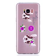 Недорогие Чехлы и кейсы для Galaxy S7-Кейс для Назначение SSamsung Galaxy S8 Plus S8 IMD Прозрачный С узором Кейс на заднюю панель С собакой Мягкий ТПУ для S8 Plus S8 S7 edge