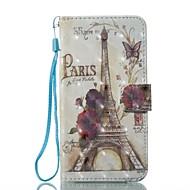 Недорогие Кейсы для iPhone 8 Plus-Кейс для Назначение Apple iPhone X iPhone 8 Бумажник для карт Кошелек со стендом Чехол Эйфелева башня Твердый Кожа PU для iPhone X iPhone